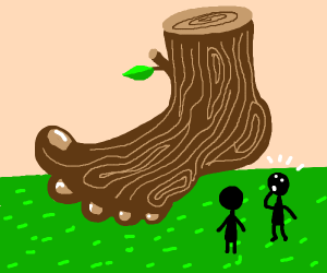 big foot made out of wood