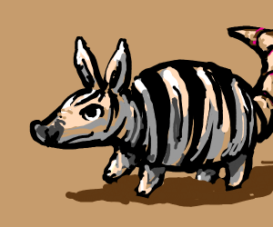 Fusion of an armadillo and a zebra