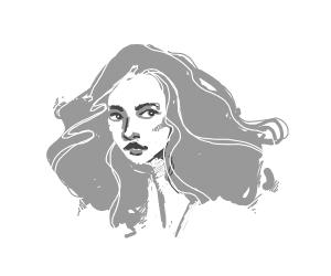 a really prety girl's face