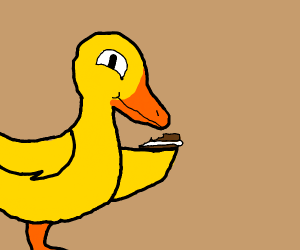 Duck murders an ice-cream sandwich