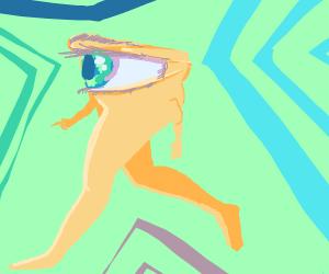 Eye with legs