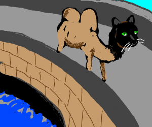 Chimera crossing a Bridge