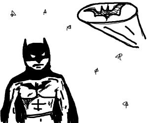 Batman sees Bat-Signal
