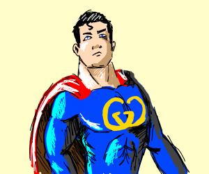 Buff superman wearing gucci