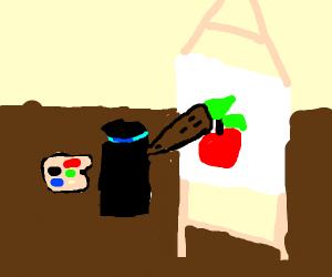 Alexa (Amazon) painting an apple