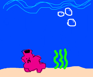 uhh crappy coral thing water sad boi