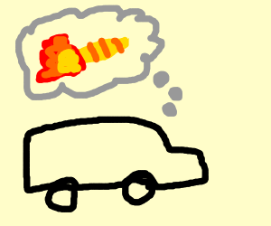 truck dreams of flaming caterpillar