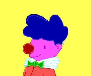 pink guy with clown nose
