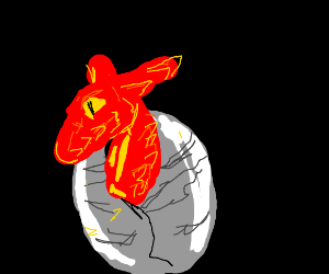 Fire Dragon Hatches from an Egg