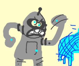 Stealing a robot's scarf