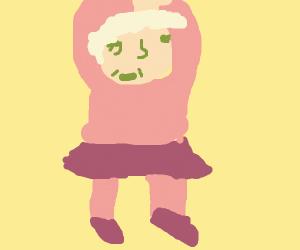 Granny doing ballet
