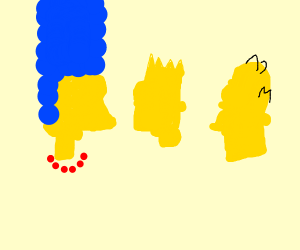 heads of simpsons without facial features