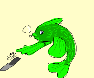 Knifetrowing fish