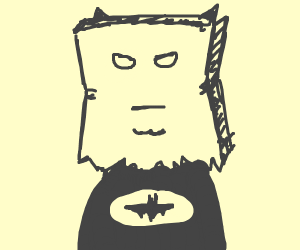 paper bag batman mask