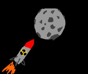 Nazis destroy the moon