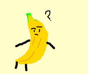 confused yellow banana man