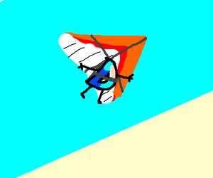 drawception D on a hang glider
