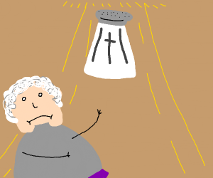 granny admiring the HOLY SALT