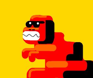 red dinosaur boss