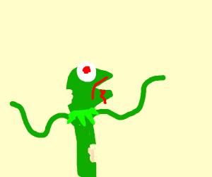 Kermit the zombie frog