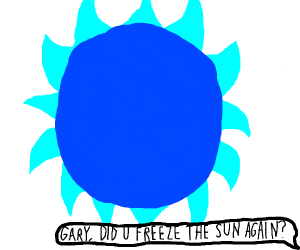 The sun goes cold