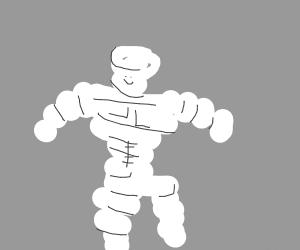 A skinny mischelier man