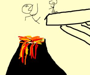 volcano sacrifice