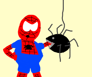spiderman gets bit by another spider