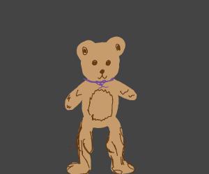 Teddybear with muscular legs
