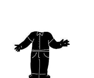 headless black man