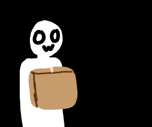 Man holding a large box