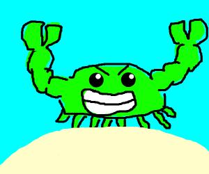 Green crab FLEXIN
