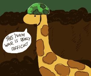 Giraffe in 'Nam