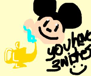 mickey is the genie