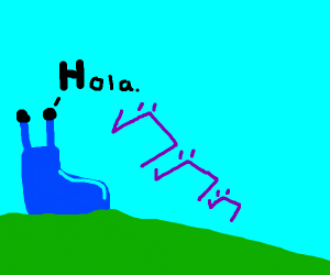blue slug say spanish