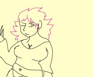 chubby angry pink girl
