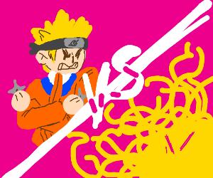 Naruto fights evil spaghetti