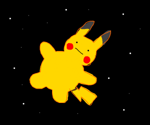 pikachu in space