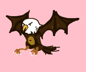Eagle with Bat wings