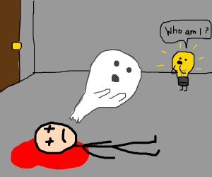 Lightbulb is afraid that it might be a ghost