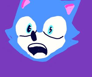 Sonic is surprised