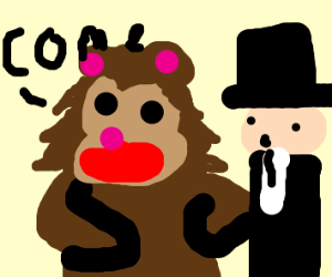 Ped0 bear wants magician to come with him