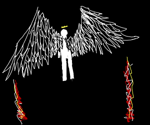 angel but its wings have rocket engine