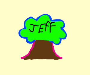 jeff on a tree