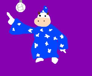 Disco wizard cow