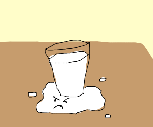 milk that is angry about being spilled