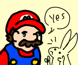 Mario says Yes to rabbits