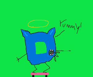 Angelic Drawception Wolf Skater consumes peas
