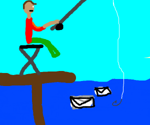 Fishing for a letter