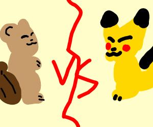 Squirle vs. Pikachu